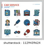 car service icon set | Shutterstock .eps vector #1129439624