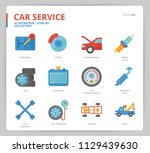 car service icon set | Shutterstock .eps vector #1129439630