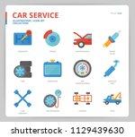 car service icon set | Shutterstock .eps vector #1129439630