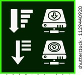 set of 4 interface filled icons ...   Shutterstock .eps vector #1129440920