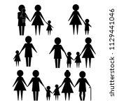 abstract people vector design... | Shutterstock .eps vector #1129441046