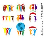 abstract people vector design... | Shutterstock .eps vector #1129441049