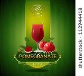 pomegranate.  fresh juice.... | Shutterstock .eps vector #112944418