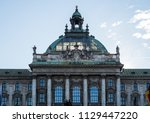 palace of justice  justizpalast ... | Shutterstock . vector #1129447220
