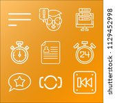 interface icon set   outline... | Shutterstock .eps vector #1129452998