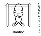 bonfire icon vector isolated on ... | Shutterstock .eps vector #1129456226