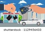 car sale concept vector...   Shutterstock .eps vector #1129456433