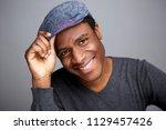 close up portrait of happy... | Shutterstock . vector #1129457426