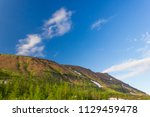 tundra and mountains of... | Shutterstock . vector #1129459478