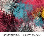 abstract painting on canvas.... | Shutterstock . vector #1129460720