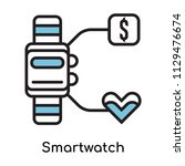 smartwatch icon vector isolated ... | Shutterstock .eps vector #1129476674