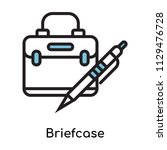 briefcase icon vector isolated...   Shutterstock .eps vector #1129476728