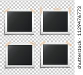template paper photo frame set. ... | Shutterstock .eps vector #1129476773