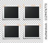 template paper photo frame set. ... | Shutterstock .eps vector #1129476773