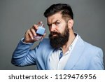 man perfume  fragrance.... | Shutterstock . vector #1129476956