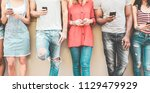 group of millennial friends... | Shutterstock . vector #1129479929
