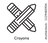 crayons icon vector isolated on ... | Shutterstock .eps vector #1129483904