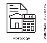 mortgage icon vector isolated... | Shutterstock .eps vector #1129485449