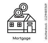 mortgage icon vector isolated... | Shutterstock .eps vector #1129485569