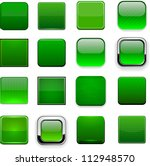 set of blank square green... | Shutterstock .eps vector #112948570