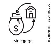 mortgage icon vector isolated... | Shutterstock .eps vector #1129487330