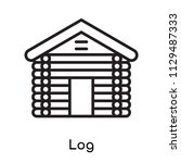 log icon vector isolated on... | Shutterstock .eps vector #1129487333