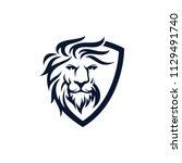 Stock vector lion head mascot stock vector 1129491740