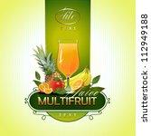 fruits. fresh juice. vector | Shutterstock .eps vector #112949188