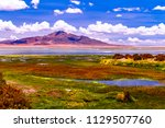 el salar de tara or tara salt... | Shutterstock . vector #1129507760