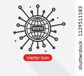 www icon  website symbol vector ...   Shutterstock .eps vector #1129511183