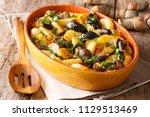 organic food  baked wild... | Shutterstock . vector #1129513469