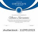 certificate template in elegant ... | Shutterstock .eps vector #1129513523