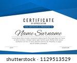 certificate template in elegant ... | Shutterstock .eps vector #1129513529