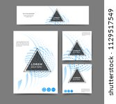set of color abstract brochure... | Shutterstock .eps vector #1129517549