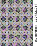 abstract colorful checkered...   Shutterstock . vector #1129521764