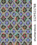 abstract colorful checkered...   Shutterstock . vector #1129521788