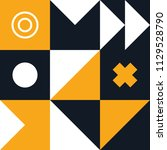 mural geometric backgrounds...   Shutterstock .eps vector #1129528790