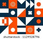 mural geometric backgrounds...   Shutterstock .eps vector #1129528796