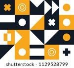 mural geometric backgrounds... | Shutterstock .eps vector #1129528799
