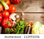 healthy organic vegetables on a ... | Shutterstock . vector #112953256