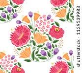 hungarian folk pattern vector...   Shutterstock .eps vector #1129539983