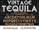 font alphabet script typeface...   Shutterstock .eps vector #1129545236