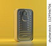 rendering of sardine tin can.... | Shutterstock . vector #1129546706