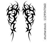 tribal symmetric pattern...   Shutterstock .eps vector #1129547060