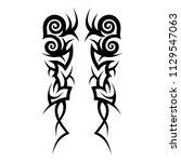 tribal pattern vector tattoo... | Shutterstock .eps vector #1129547063