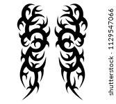 tribal symmetric pattern...   Shutterstock .eps vector #1129547066