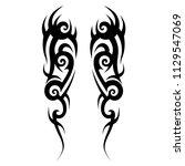 tribal art tattoo swirl  thorns ...   Shutterstock .eps vector #1129547069