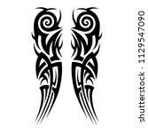 tattoos art ideas scroll sleeve ...   Shutterstock .eps vector #1129547090