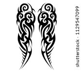 tribal pattern vector tattoo... | Shutterstock .eps vector #1129547099