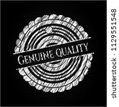genuine quality written on a... | Shutterstock .eps vector #1129551548